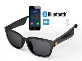 Bluetooth bone conduction glasses for listening to music + making phone calls