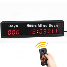 LED Digital Clock with countdown of days - 37 x 10 cm