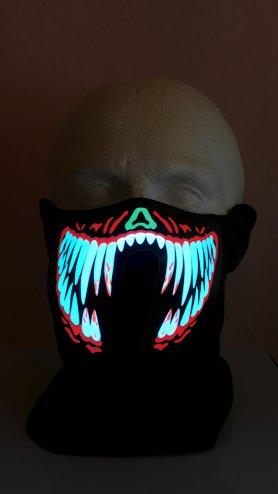 Máscaras Rave para chicos LED dientes - sensible al sonido