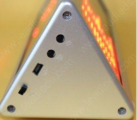Tableau à double face Affichage à LED 22 cm x 7,6 cm - rouge
