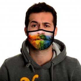 Maschera viso divertente moda 3D - BARBA STUBBLE COLORATA
