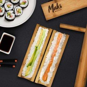 Sushi készlet - maki készlet (készítő készlet vagy készlet 100% -ban eredeti bambuszból)