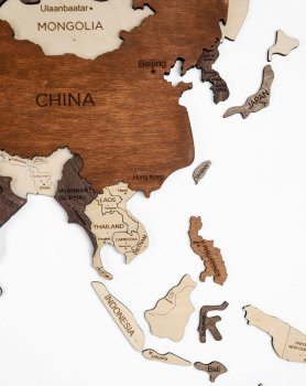 3D maps on the wall - wooden map 150 cm x 90 cm