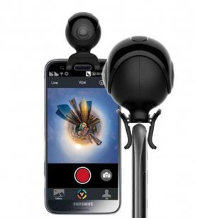 Panoramic 360° camera with 4Mpx for Android smartphone