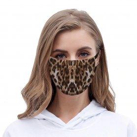 Mascarilla de leopardo (100% poliéster) para mujer