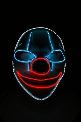 Máscara de payaso con LED intermitente