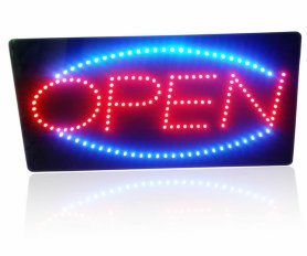 OPEN sign led board panel - 48 cm x 25 cm