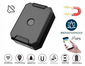 Rastreador de vehículos localizador gps impermeable IP67 con imán + capacidad de batería 6000 mAh + monitoreo de voz
