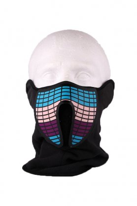 Rave face mask Equalizer - sound sensitive