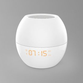 Sveglia con LED e altoparlante WiFi + Bluetooth (compatibile con Alexa)
