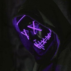 Purge LED maske - Purple