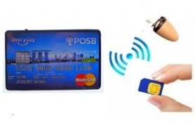 Spy earpiece with bluetooth 5W amplifier + SIM (in the shape of a credit card)