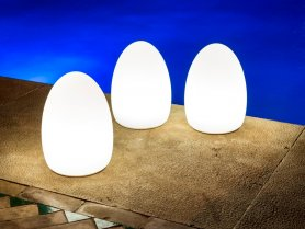 Egg light - ​LED decorative lamp changing colors + remote control + IP65 protection