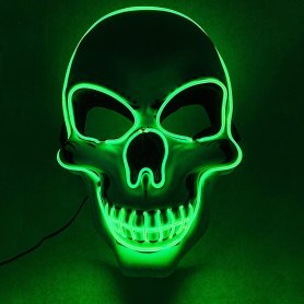 LED mask SKULL - green