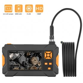 "Endoscope camera FULL HD + 4,3"" display + cam with 8x LED lights with 5m cable + IP67"