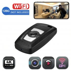Keychain camera Wifi with 4K resolution - Luxury design with support up to 128GB micro SD