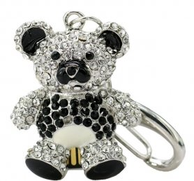 Gift USB flash drive - Teddy bear decorated with rhinestones