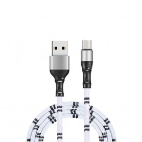 Micro USB - USB cable for cellphone in Bamboo design and 1m length