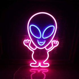 LED svietiaceneon logo (baner) na stenu -ALIEN