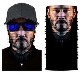 JOHN WICK (Keanu Reeves) bandana - foulard 3D sur le visage ou la tête