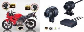 Podwójne kamery motocyklowe (przód + tył) Full HD + WiFi