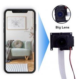 ピンホールカメラフルHD10mm超広角レンズ145°、内線付き。 IR LED + WiFi / P2P