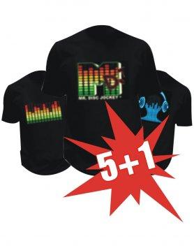 Купете 5 Led тениски и вземете 1 LED тениска безплатно