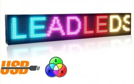 Pantalla LED 7 colores programables - 100 cm x 15 cm