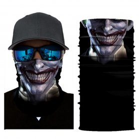 Neck Scarf Men or Women Face Shield  - CRAZY CLOWN
