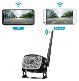 Reverse camera phone 12IR LED - live stream via wifi to mobile phone (iOS, Android)