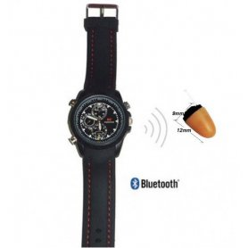 Wireless ricevitore telefonico invisibile Agente 008 + Orologio Bluetooth