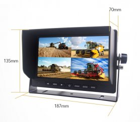 "Reverse DVR monitor 7"" LCD + recording from 4 cameras up to 128GB SDXC card"