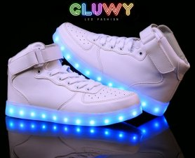 LED Shoes - white Sneakers