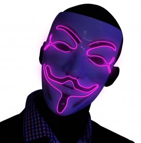 Maska za osvete Maska LED - ljubičasta