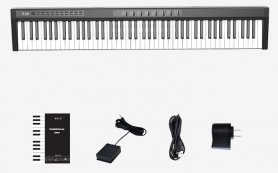 Electronic keyboard (digital piano) 125cm with 88 keys + bluetooth + stereo speakers