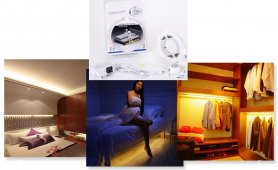 LED strips set for the room 1,5M strip with motion sensor + adjustable switch-off time - PACK