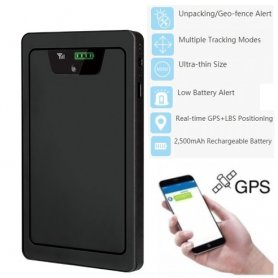 GPS локатор - ULTRA THIN 8 мм GPS устройство + батерия 2500mAh - пакети за проследяване + хора.