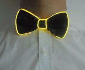 Party bow tie - yellow