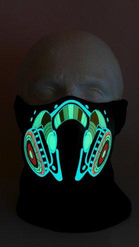 Light up rave mask DNB - sensible al sonido