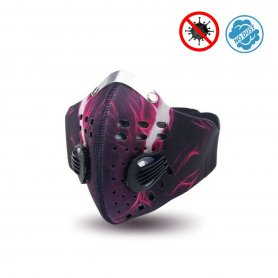 Stylish face mask 3D neoprene multistage filtration - XProtect purple