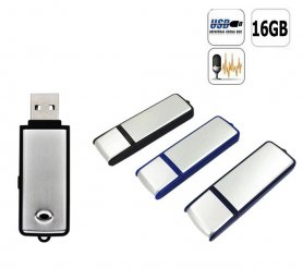 Hidden audio portable recorder in USB flash drive with 16GB memory