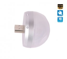 Fotocamera Full HD USB con luce LED arrotondata