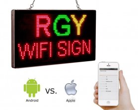 Advertising LED billboard with WiFi - panel 33 cm x 18 cm