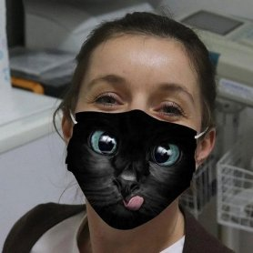 CAT- fashion protectiveface mask 3D printed