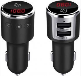 FM transmitter with Bluetooth handsfree with MP3/WMA decoder + 2x USB car charger