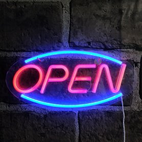 Neon Bar Zeichen OPEN - LED Glow Board