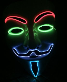 Máscara de Anonymous - multicolor