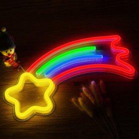 Neon Reklamný LED svietiaci pútač - KOMÉTA