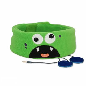 Comfortable baby headband with headphones - Monster