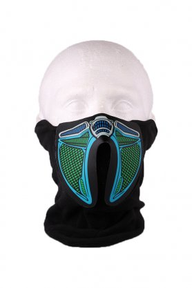 Cyber ​​Proton LED mask - sound sensitive